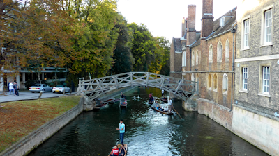 The world famous Mathematical Bridge at Queens College. Lots of nonsense talked about this, I think. They've replaced it twice.