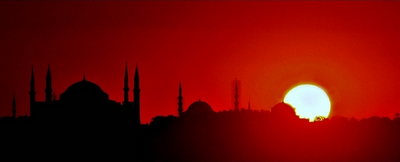 Sunset in Istanbul, Turkey