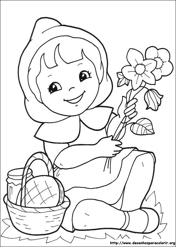jogo gnomo de jardim : jogo gnomo de jardim:Red Riding Hood Coloring Pages