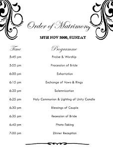 Order of Matrimony