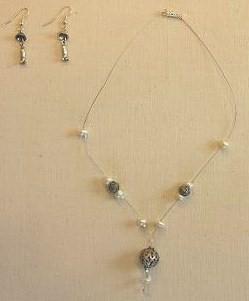 Boules d'Argent ciselées et Perles d'eau douce