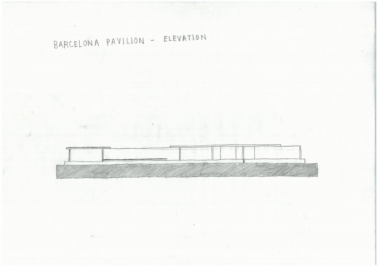 Barcelona pavilion section drawing - Gt Sketch Journal 04a Gt Ludwig Mies Van Der Rohe Barcelona Pavilionbarcelona Pavilion Section Drawings