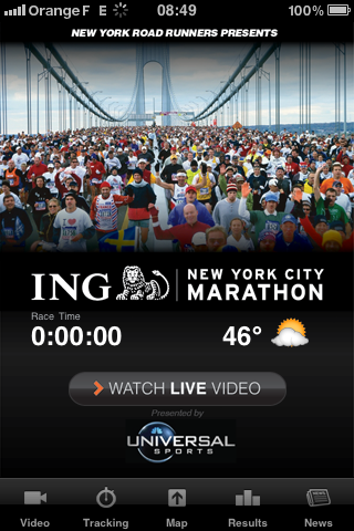 Application Iphone Marathon de New York 2010