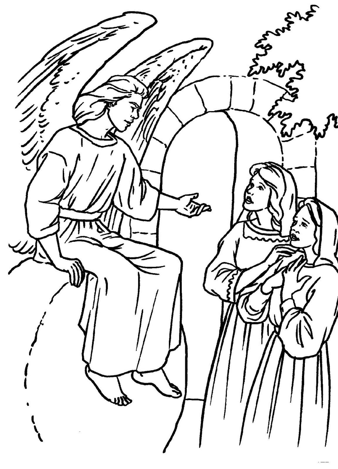 Educar con Jesús: El sepulcro vacío. Dibujos para colorear