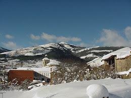 La villa de Boñar nevada