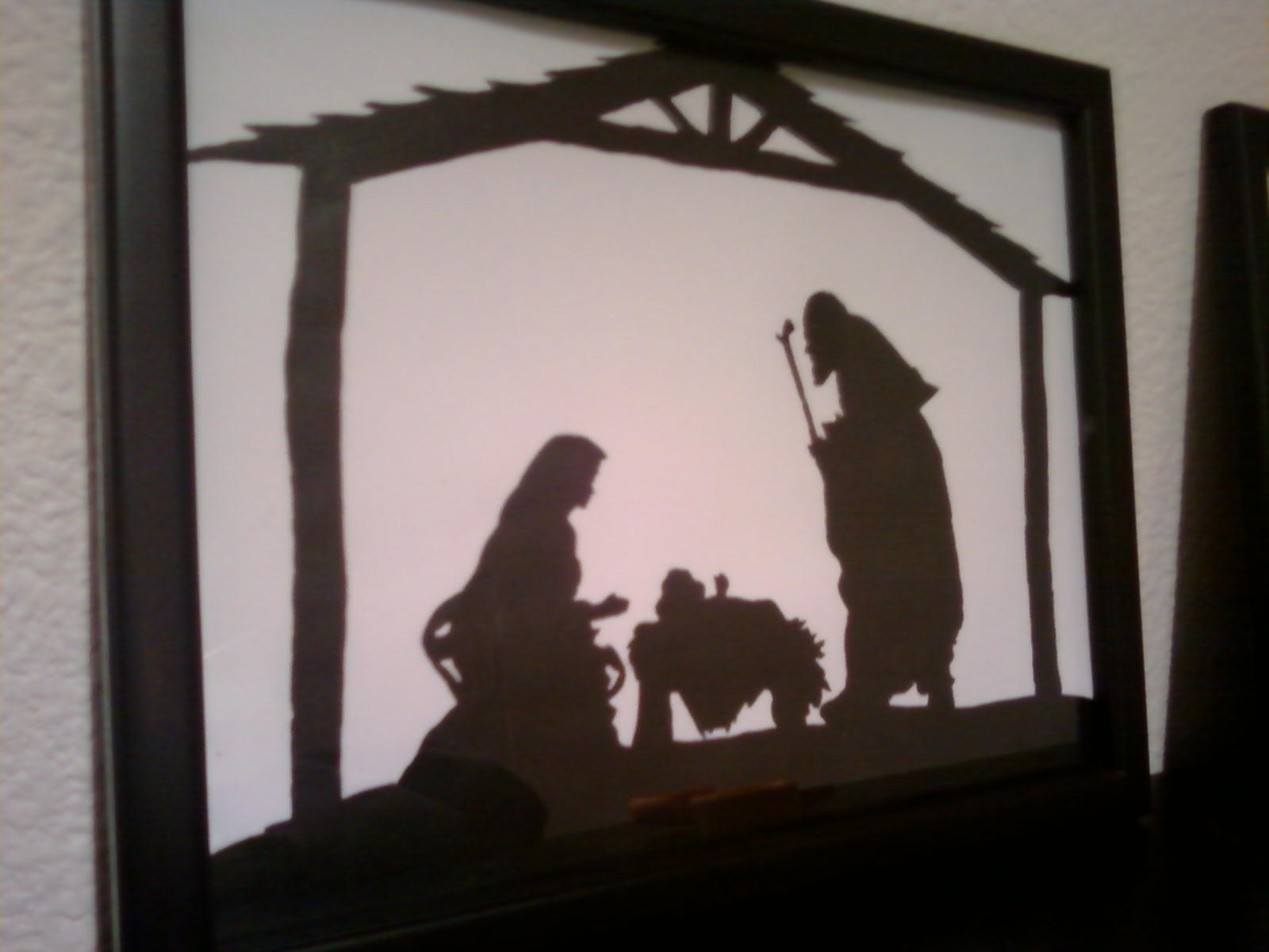 Nativity Silhouette Template Christmas silhouette tutorial