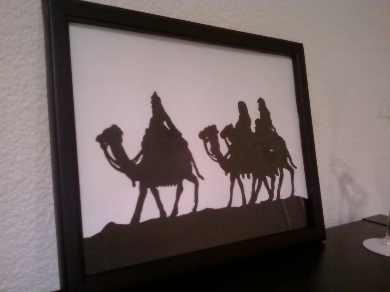 Nativity Scene Silhouette Printable Christmas silhouette tutorial