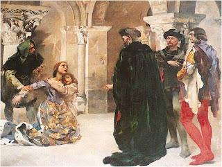 Cena da morte de D. Inês - Quadro de Columbano, Museu Militar, Lisboa