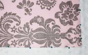 Orange sugar tutorial minky blanket for Space minky fabric