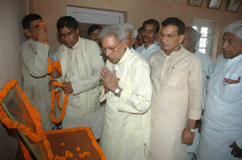 ... Babu Jagjivan Ram on his death anniversary in Patna on July 6, 2010