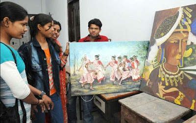 A painting exhibition begins at Patna Art and Craft College