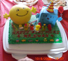 Ewan's 4th Birthday Mr Men Cake