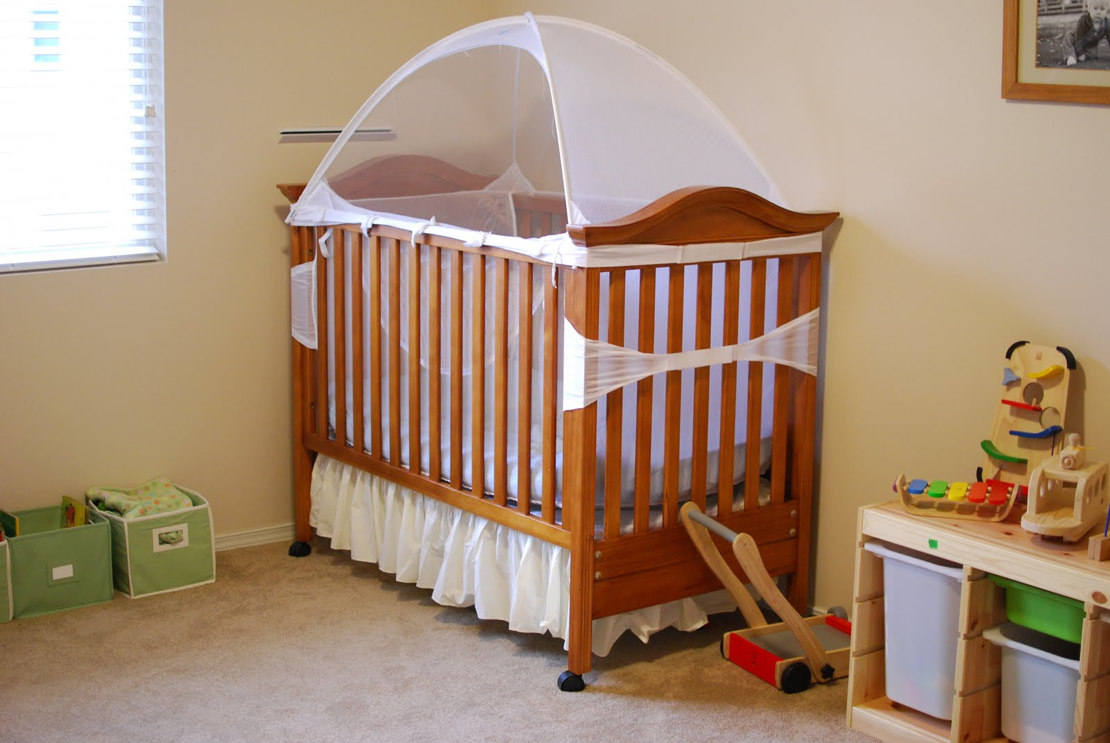 Crib tents for babies - We Don T Usually Put Toys In The Kids Rooms But This House Has Enormous Bedrooms Each Of The Kids Has A Few Small Things In Their Room And It S Really