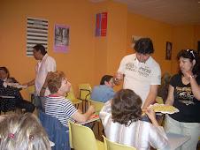 Intercambio cultural gastronomico  en las aulas de  la Casa das Mulleres de Vigo