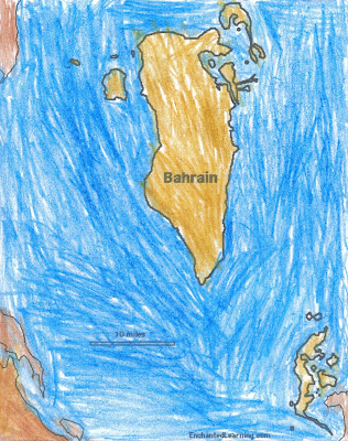 Bahrain Is A Little Island Of The Coast Saudi Arabia While We Were Printing Out Geography Coloring Pages For Next Two Years Flags And Maps