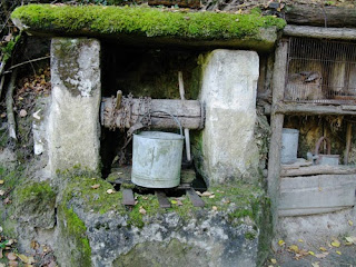 Well on Troglodyte farm, France