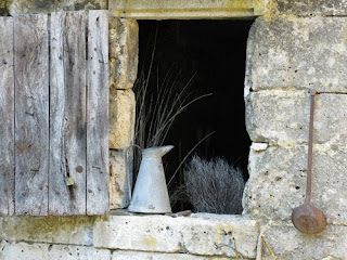 Window of home on Troglodyte farm, France