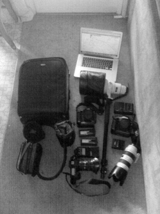 The gear line up includes the following Canon equipment: 5D MKII,