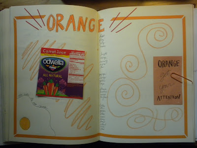 Orange Journal Page