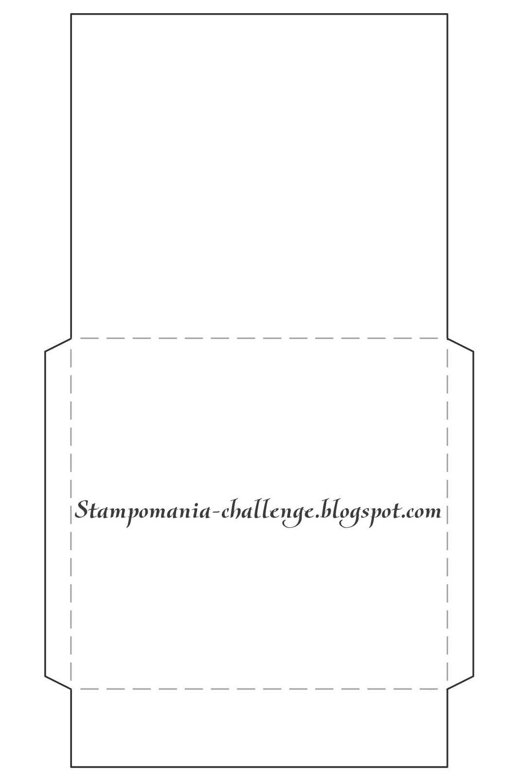 Скачать шаблон конверта для фотографий