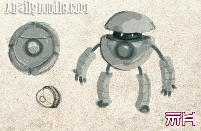Cute Robot Doodles Another Cute Robot