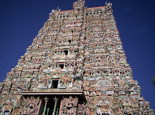 Madurai temple,Meenakshi Amman temple,Meenakshi Amman temple Towers,inner left view of towers,southern tower