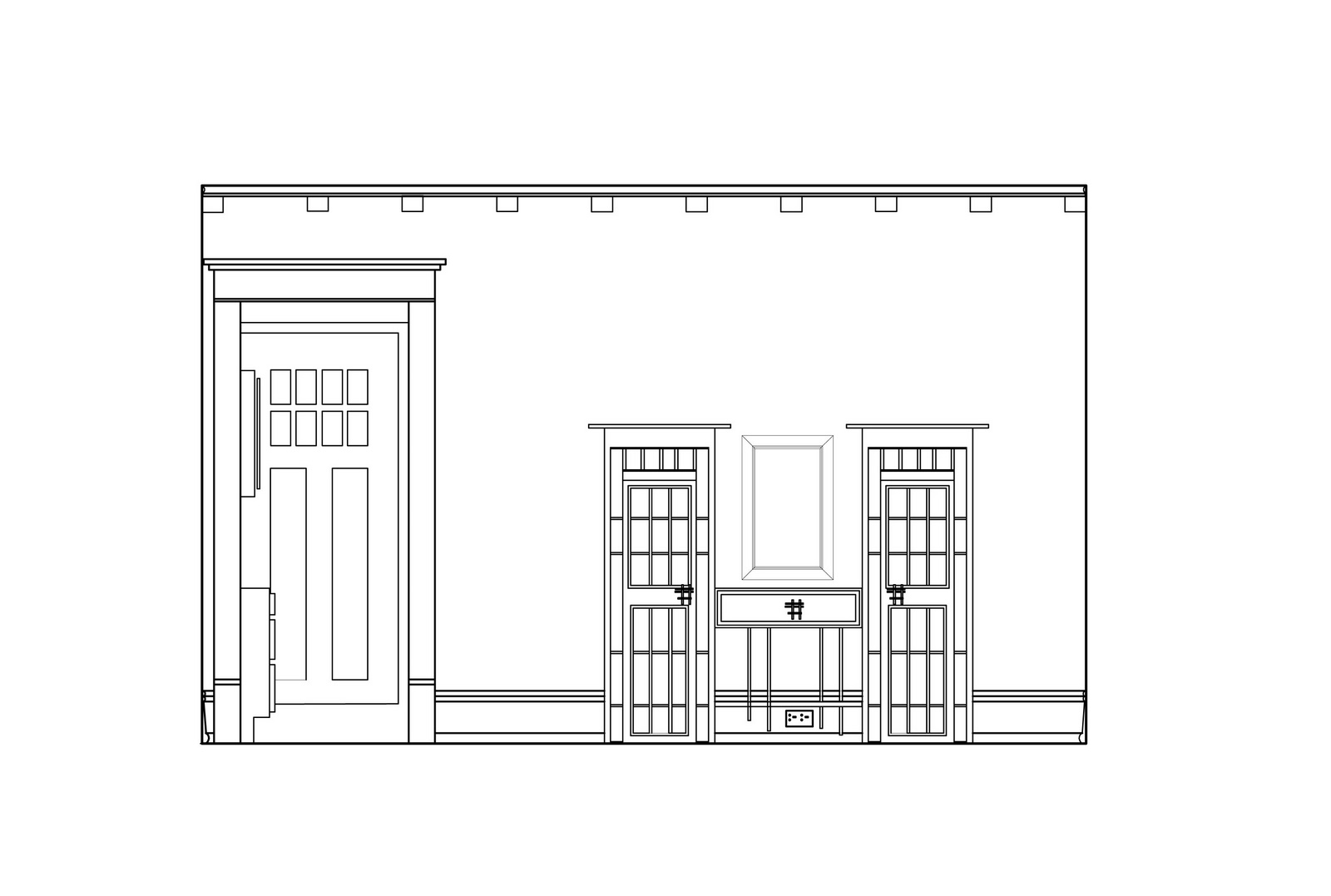 Auto cad shane jones for Dining room elevation