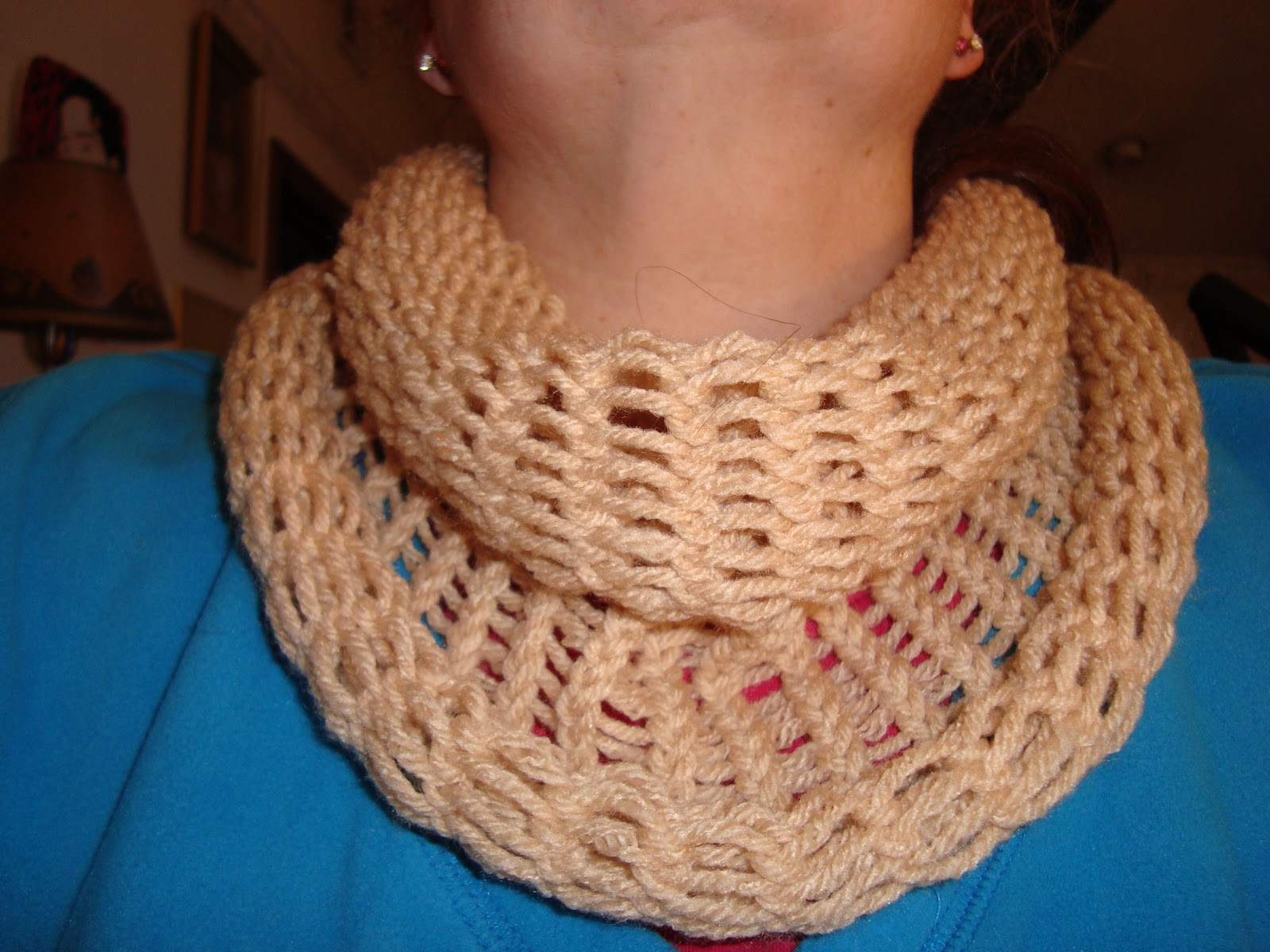 Easy Loom Knitting Ideas : Live dream be free pattern loom knit an easy cowl