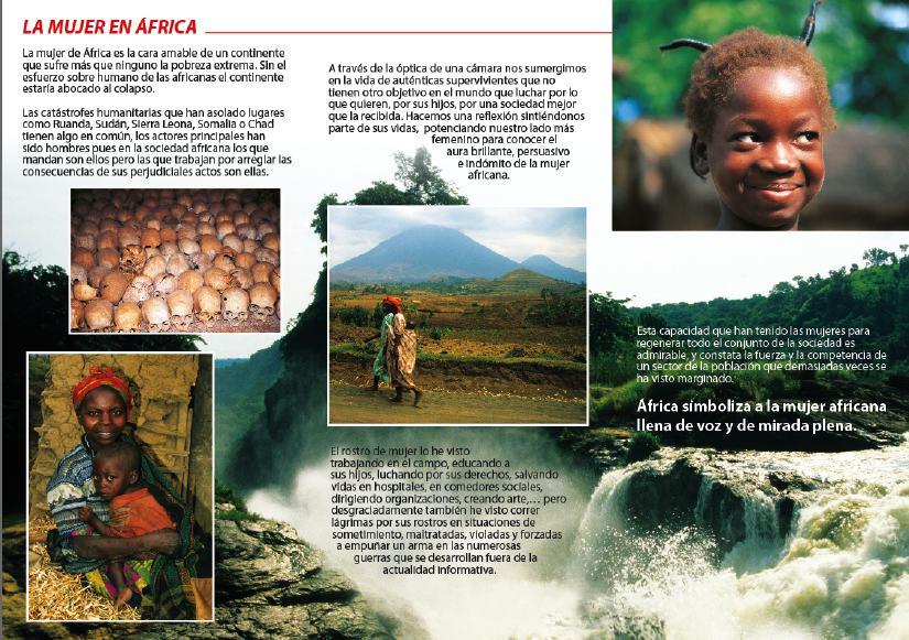 EXPOSICION AFRICA TIENE ROSTRO DE MUJER