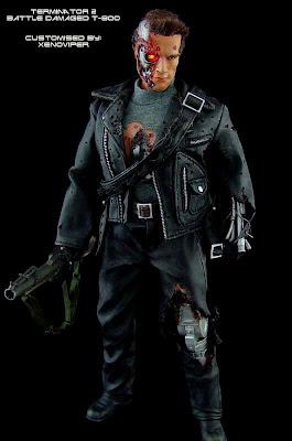 T 800 Terminator ... Figures: Terminator 2: Judgement Day - Full Battle Damaged T-800