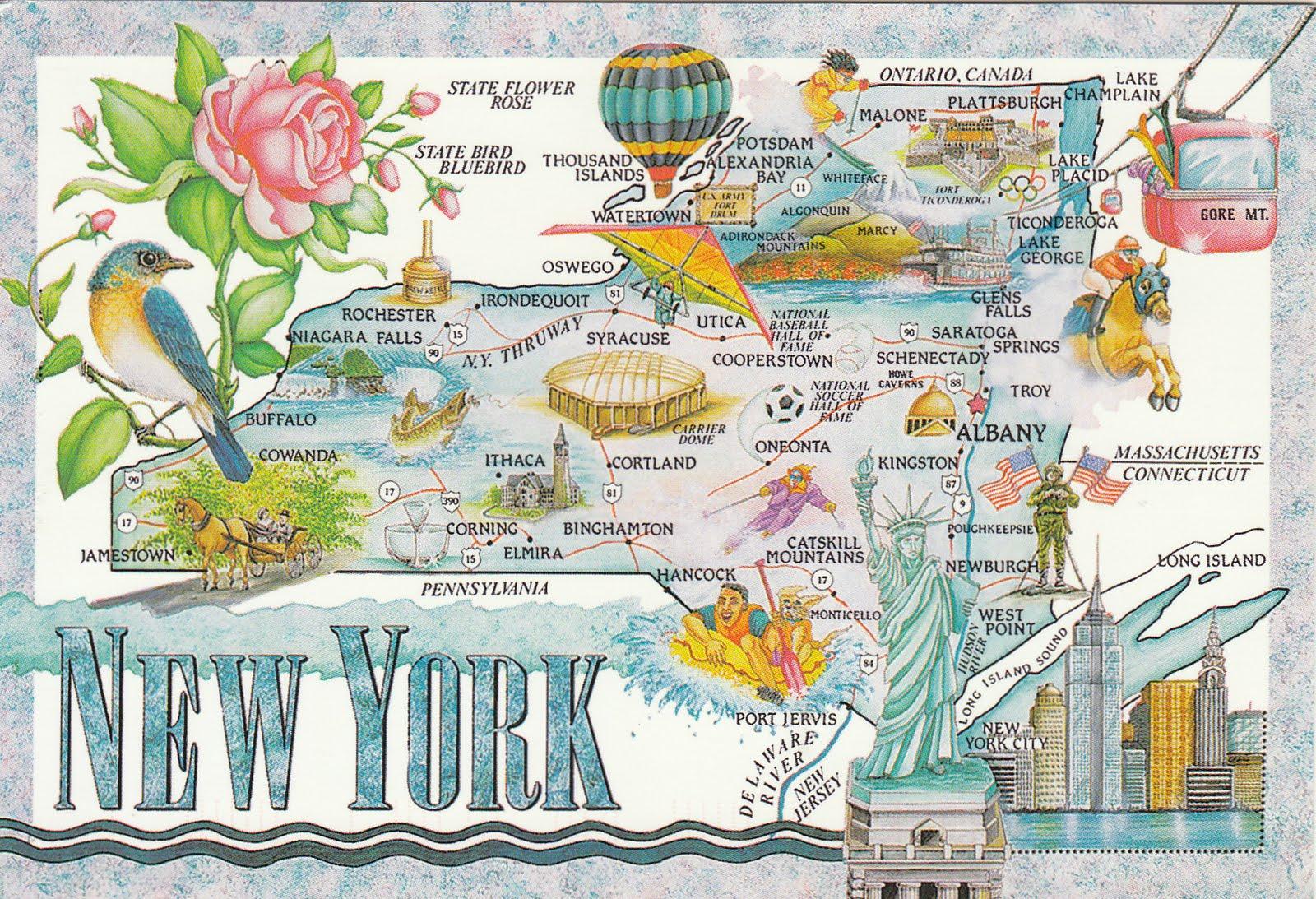 johan postcards United States New York State