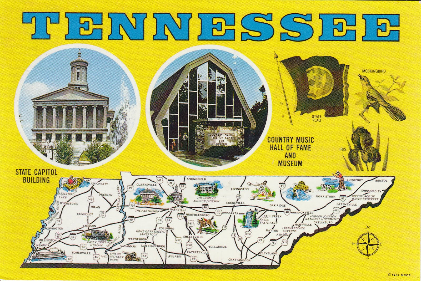 johan postcards United States Tennessee
