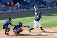 Nevin Ashley was 2 for 3 with a double and a walk in Saturday's games against Jacksonville.