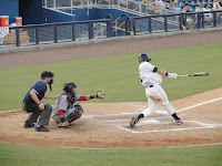 John Matulia drove home the winning run with a sac fly to score Greg Sexton and break the losing streak on Monday night.