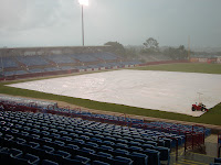 Heavy rains forced the postponement of Saturday's game.