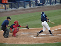 Emeel Salem was 2 for 3 with 2 RBI's and 3 runs scored on Saturday.  Photo by Jim Donten.