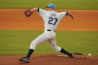 Alex Cobb threw 6 2/3 innings of shut-out baseball on Wednesday night.  Photo by Jim Donten.