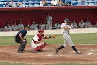 Emeel Salem was 2 for 5 with an RBI and a run scored.  Photo by Jim Donten.