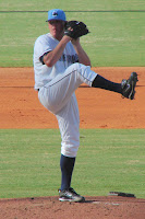 Jake McGee recorded 10 strikeouts in 4 innings on the mound.  Photo by Jim Donten.