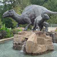 Dinosaur Family at the Fernbank entrance