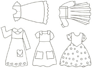 Printable Paper Doll Clothes Patterns