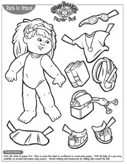 Black and White Paper Doll Craft Printables