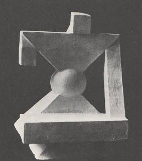 """Georges Vantongerloo, """"construction dans la sphère,"""" ocno 2, 1918 -illustratie uit dit proefschrift"""