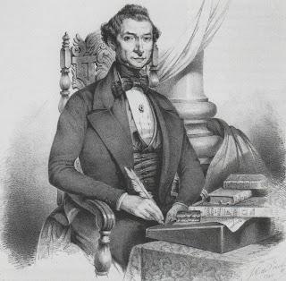 Mozes Salomon Polak, in 1850 getekend door medelid van Post Nubila Lux J.C. de Vries; lithografie van M.J. Dessaur