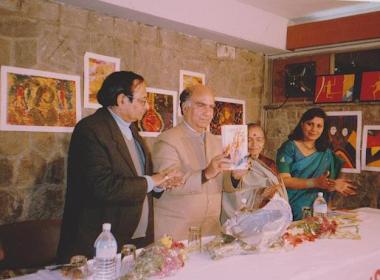Book release kadambini editor Rajendra Awasthi ji, Shree Shanta Kumar (CM, HP), Sarojini Mahishi ji