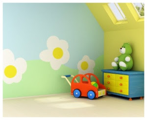 BABY ACCESSORIES: Nursery Painting Ideas