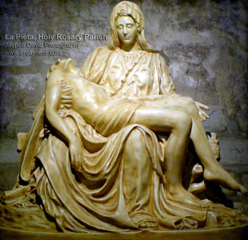La Pieta Michelangelo, Holy Rosary Parish Church, Angeles city, Bishop Pablo Ambo David