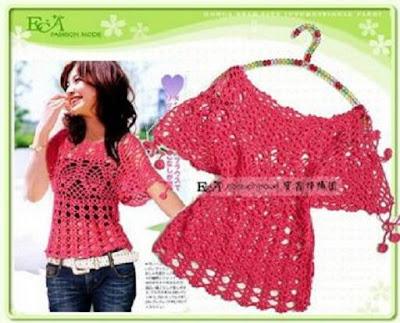 O Hacer Blusas Tejidas En Crochet Paso A Paso   Vestimenta