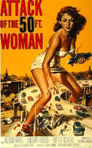 el ataque de la mujer de los 50 pies