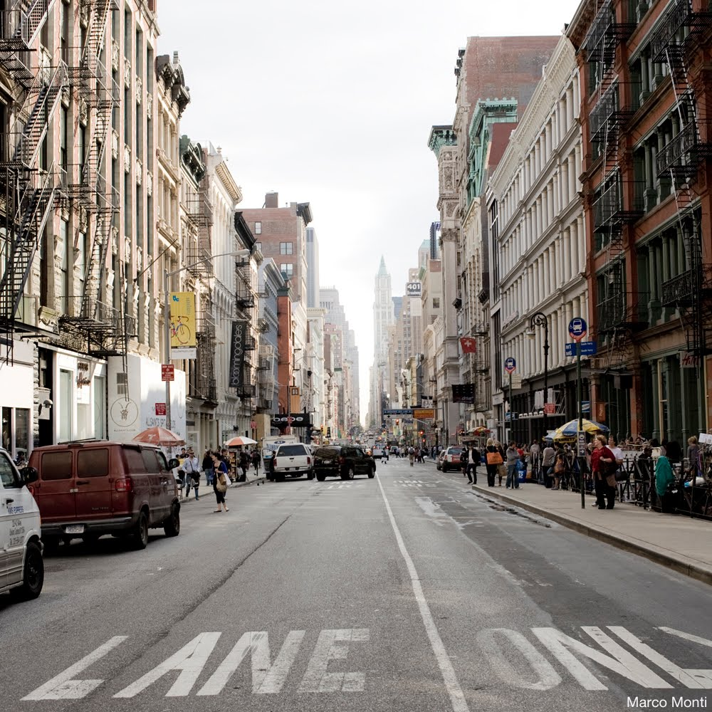 Soho New York Schoudertas : Marco monti photo art soho new york city